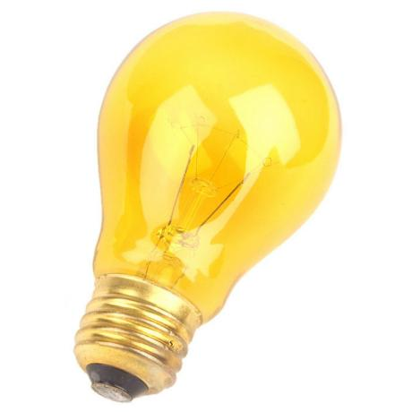 Yellow 25 Watt Party Light Bulb