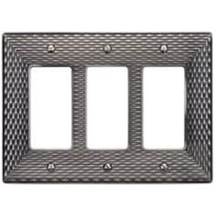 Mandalay Brushed Nickel Triple Rocker Wall Plate