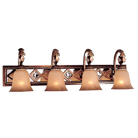 "Minka Aston Court 34 1/4"" Wide Bathroom Light Fixture"