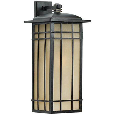 "Quoizel Hillcrest 25 1/4"" High Bronze Outdoor Wall Light"