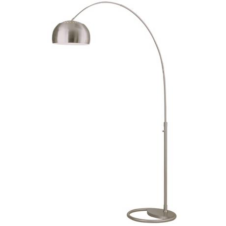 Nova Cleo Brushed Nickel Arc Floor Lamp