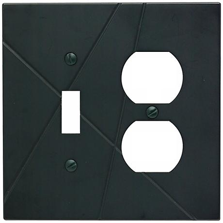 Modernist Black Combo Outlet Wall Plate