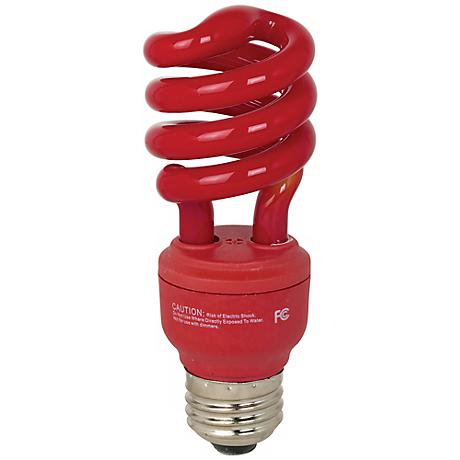 ECObulb 13 Watt CFL Twist Red Party Bulb
