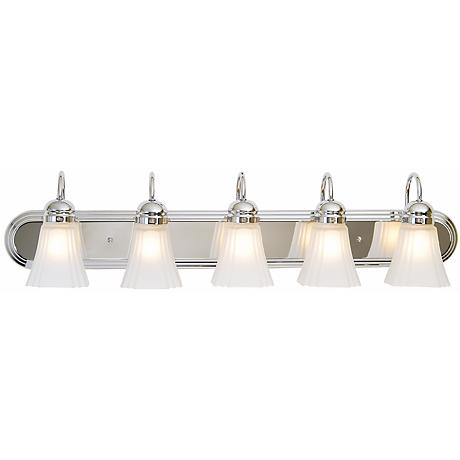 "Seneca Collection 36"" Wide Chrome Bathroom Light Fixture"