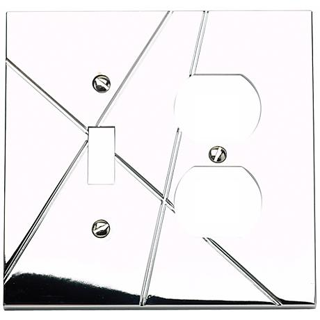Modernist Chrome Combo Outlet Wall Plate