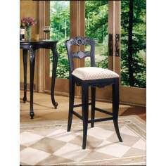 "Hills of Provence Antique Black 30"" High Bar Stool"