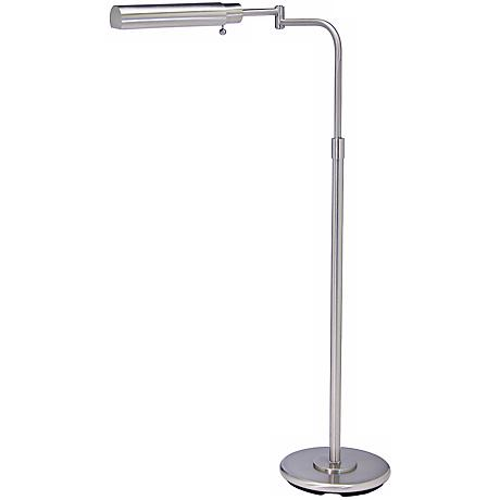 House of Troy Swing Arm Pharmacy Satin Nickel Floor Lamp