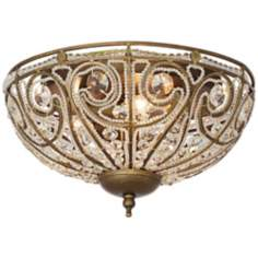 "Bethany Collection Antique Gold 13"" Wide Ceiling Light"