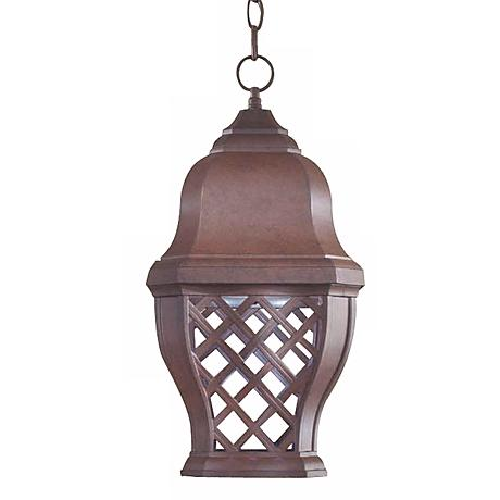 "British Isle 19"" High Dark Sky Outdoor Hanging Lantern"