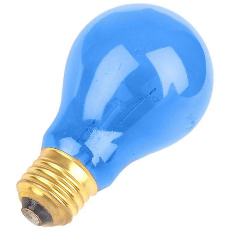Blue 25 Watt  Party Light Bulb by Satco