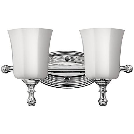 "Hinkley Shelly 16"" Wide Chrome Bathroom Light"