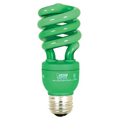 ECObulb 13 Watt CFL Twist Green Party Bulb