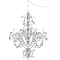 Kathy Ireland Dorset Swag Plug-In Style 6-Light Chandelier
