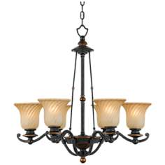 "Genova Collection 26"" Wide Six Light Chandelier"