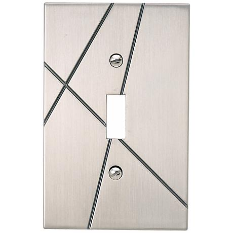 Modernist Brushed Nickel Single Toggle Wall Plate