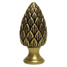 Pinecone Antique Metal Finial