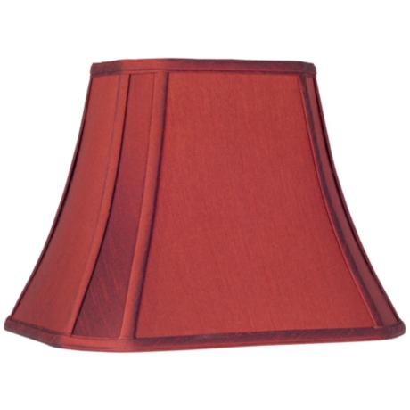 Crimson Red Cut-Corner Lamp Shade 6/8x11/14x11 (Spider)