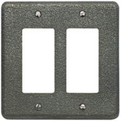 Olde World Pewter Double Rocker Wall Plate