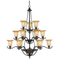"Genova Collection 44 1/2"" Wide Fifteen Light Chandelier"