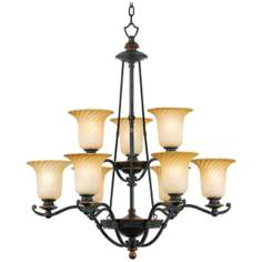 "Genova Collection 32"" Wide Two-Tier Chandelier"