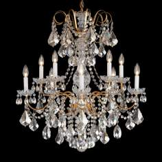 "Schonbek New Orleans Collection 28"" Wide Crystal Chandelier"