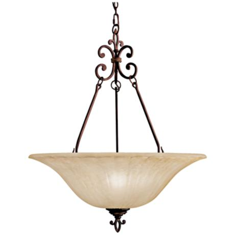 "Contemporary Ornate 24"" Wide Pendant Chandelier"