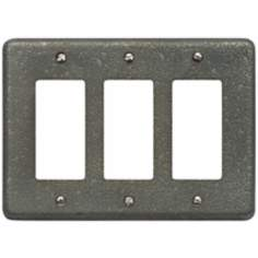 Olde World Pewter Triple Rocker Wall Plate