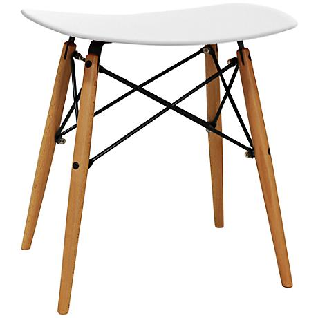 Durango Hardwood Compact White Saddle Stool
