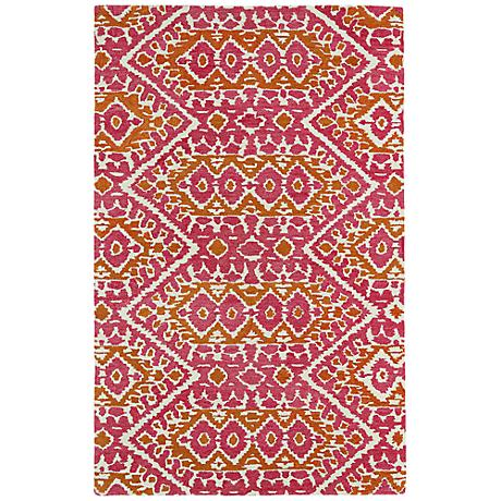 Kaleen Global Inspirations GLB01-92 Pink Wool Rug