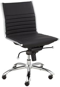 Dirk Low Back Armless Black Office Chair (7C725) 7C725