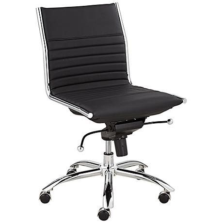 Dirk Low Back Armless Black Office Chair