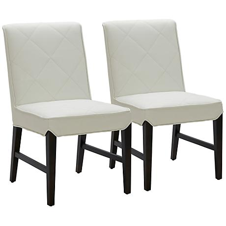 Main Street Ivory Diamond Dining Chair Set of 2