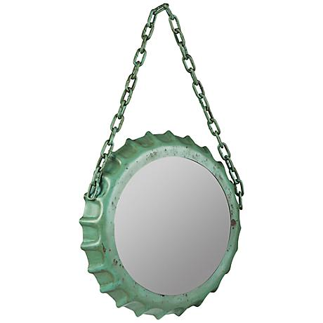 "Cooper Classics Kaya Sea Green 14""x22 1/4"" Wall Mirror"
