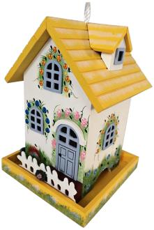 Flower Cottage Bold Yellow Birdfeeder (7D579) 7D579