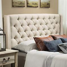 Lidia Eggshell Full/Queen Wing Headboard