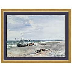 "Seascape 21 3/4"" Wide Framed Wall Art"