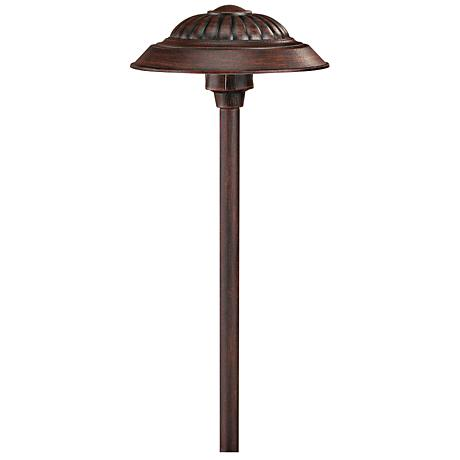 hinkley saucer clay outdoor led low voltage path light 7f215 www. Black Bedroom Furniture Sets. Home Design Ideas