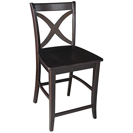 "Vinyard 24"" Dark Walnut Armless Counter Stool"