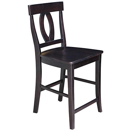 "Verona 24"" Dark Walnut Armless Counter Stool"