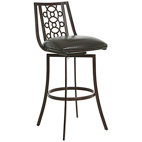 "Valentijn 30"" Melvin Chocolate Armless Swivel Barstool"