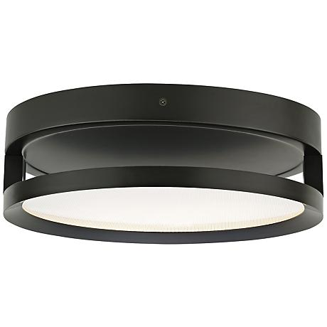 "Finch Float 12"" Round Bronze LED Ceiling Light"