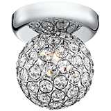 "Tiara Crystal Sphere 4 1/4"" Wide Chrome Ceiling Light"