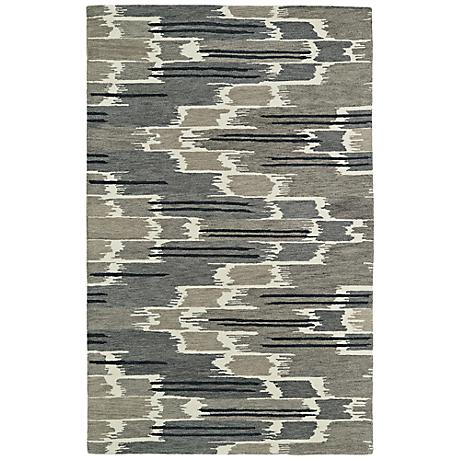 Kaleen Global Inspirations GLB02-7 Gray Wool Area Rug