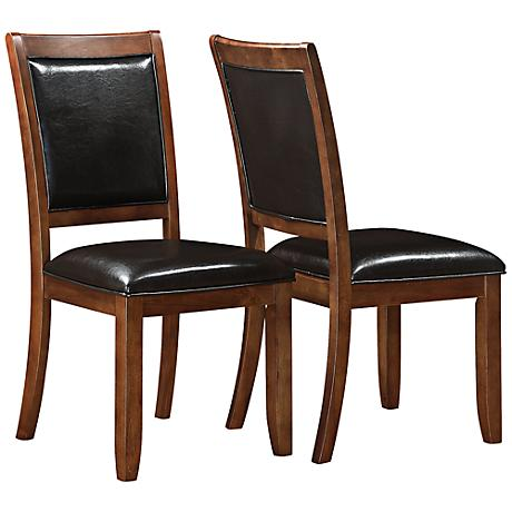 Reno Dark Walnut Dining Chair Set of 2