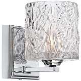 "Lorenzo Chrome 6 1/4"" High Molten Glass Wall Sconce"
