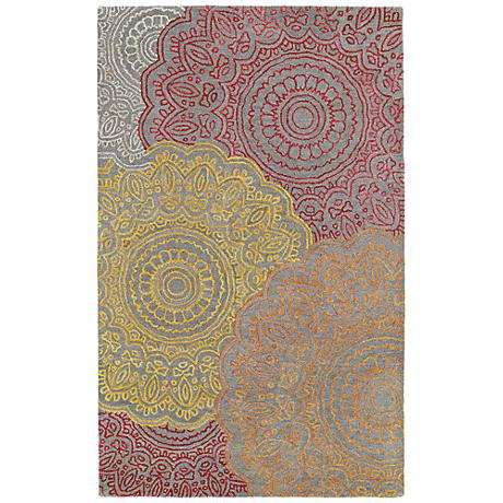 Kaleen Divine DIV03-98 Fire Medallion Wool Area Rug
