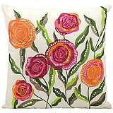 "Mina Victory Orange and Pink 18"" Square Outdoor Pillow"