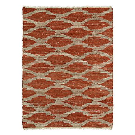 Kaleen Kenwood KEN01-53 Paprika Orange Jute Reversible Rug