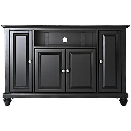 "Cambridge Raised Panel 4-Door Black 48"" TV Stand"