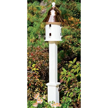 Good Directions Lazy Hill Farm Boxford White Birdhouse Post